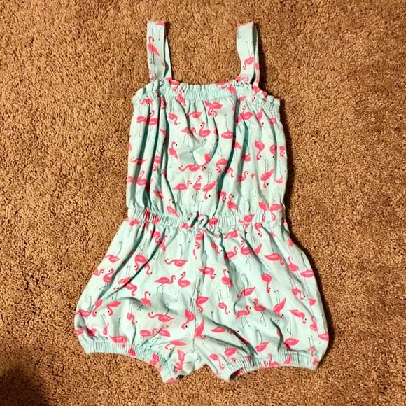 7afeebeab GAP Dresses | Baby Factory Flamingo Romper Size 5 | Poshmark